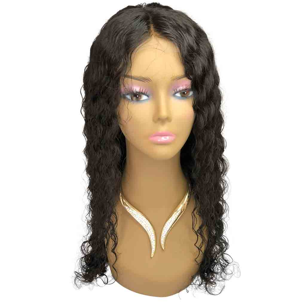 Virgin Brazilian Curly – 360 Full Lace Wig